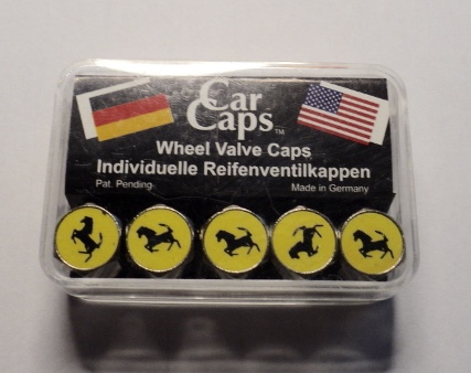 German made Ferrari logo valve stem caps