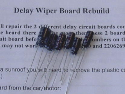 1985-1988 Delay wiper board rebuild kit