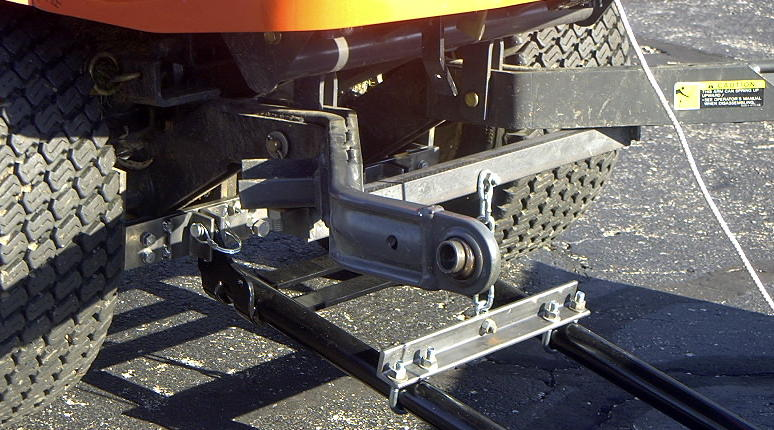 Kubota ATV plow attachment