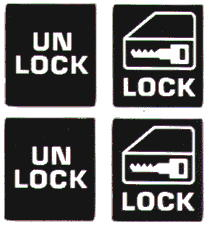 Electric Door Lock Reproduction Stickers